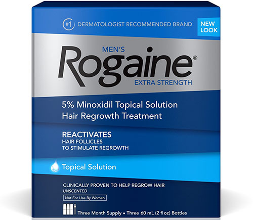 3. Rogain Men's Extra Strength Solution, 2 Oz