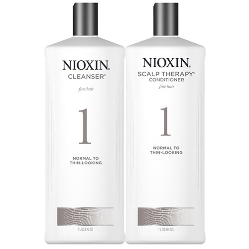 8. Nioxin System 1 Cleanser & Scalp Therapy DUO Set(33.8oz)