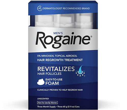 1. Men's Rogaine Foam
