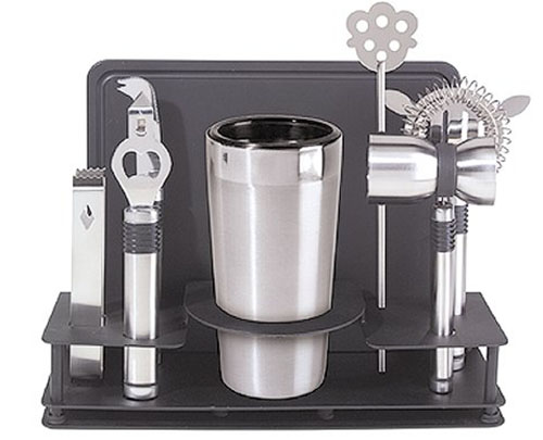 3. Oggi Pro Stainless-Steel 10-Piece Cocktail Shaker