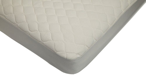 9. Waterproof Quilted Crib Size Fitted Mattress