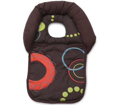 8. Boppy Noggin Nest Head Support, Brown Wheels