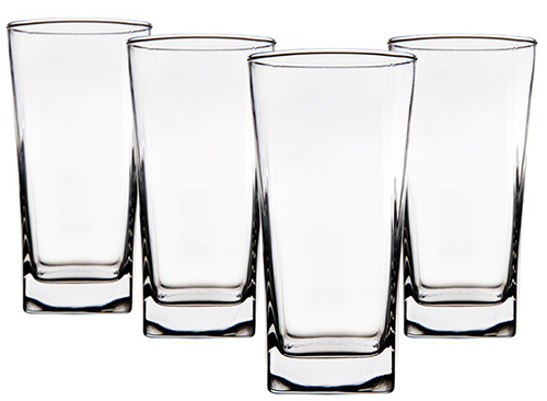 5. Red Series Square Highball Glass