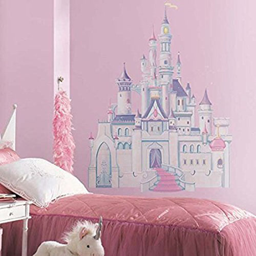 9. Roommates Rmk1546Gm Disney Princess Glitter Castle