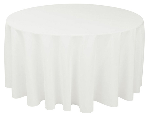 8. LinenTablecloth 120-Inch Round Polyester Tablecloth