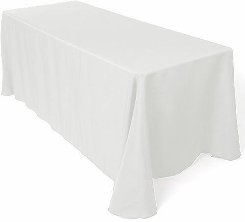 6. LinenTablecloth 90 x 156-Inch Tablecloth White