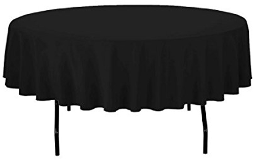 7. LinenTablecloth 90-Inch Round Polyester Tablecloth