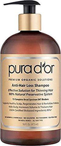 1. Pura dor anti-hair loss premium organic argan oil shampoo