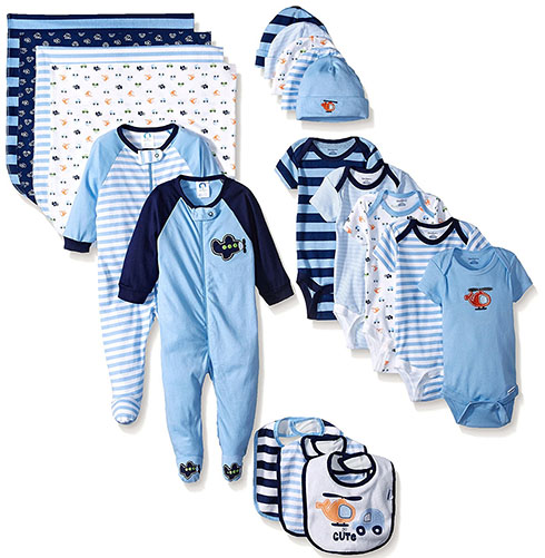 8. Gerber Baby Boys' 19 Piece Essentials Gift Set