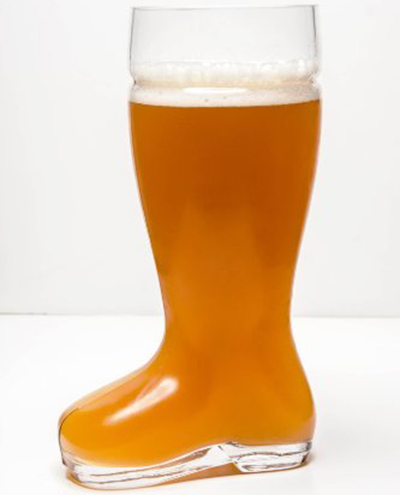 4. Oktoberfest Style Glass Beer Boot