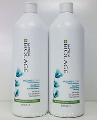 5. Matrix Biolage volume bloom shampoo and conditioner