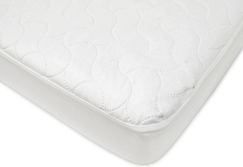 1. Toddler Protective Mattress Pad Cover, white