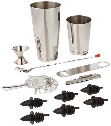 10. Winco 13 Piece Professional Bar Set