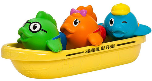 5. Munchkin Bath Toy, School of Fish