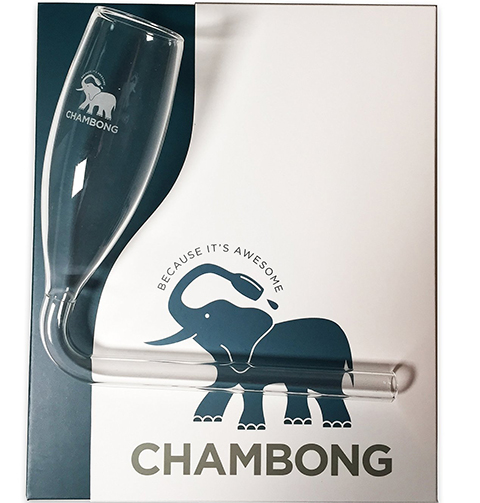 2. Chambong - Glassware for rapid Champagne consumption