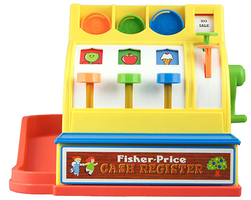 10. Fun Fisher-Price Cash Register