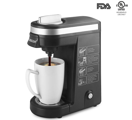 10. CHULUX K-cup Coffee Maker, Black