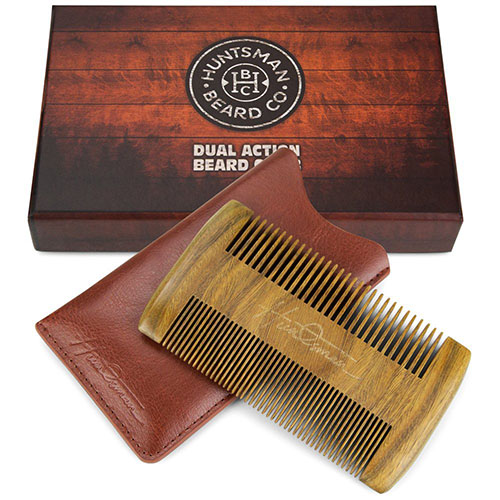 3. Dual Action Beard Comb & Protective Sleeve