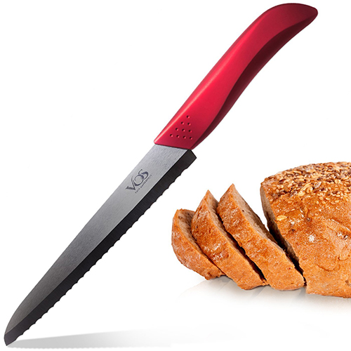 9. Vos Ceramic Bread Knife