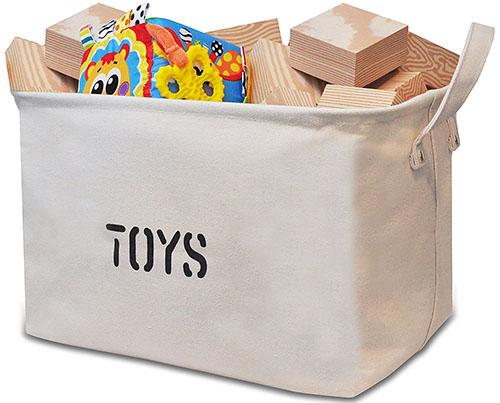 10. Canvas Storage Bin for Toy Storage