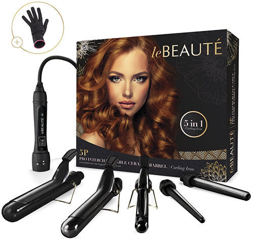 10.Le Beaute 5 In 1 Curling Iron & Wand Set
