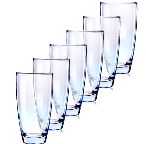 4. MKSA Heavy Base Highball Beverage Glasses 13oz