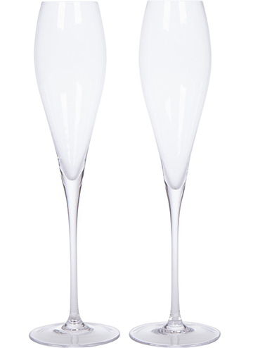 10. Champagne Flutes by Bella Vino