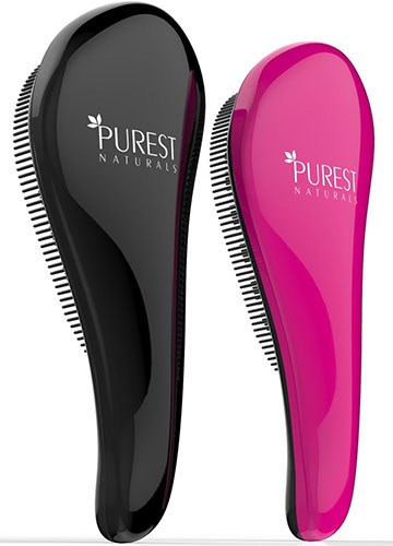9. Purest natural's original detangling hairbrush