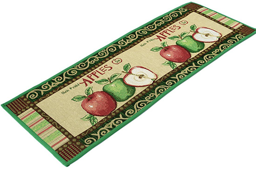 5. Apple Pattern Kitchen Rugs
