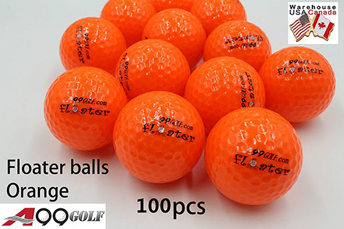 1 . A99 Floating Golf Balls Floater Ball Float Water Range 100pcs, Orange