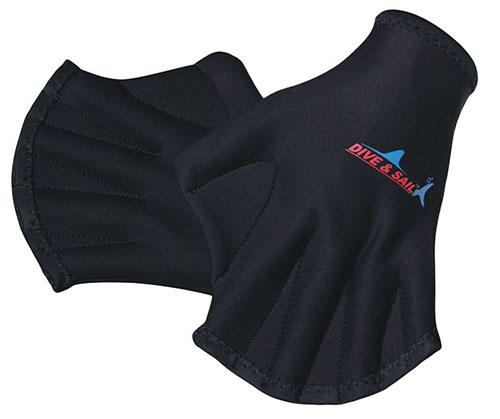 10. Swimming Gloves with Webbed Fingers Snorkeling for Adults