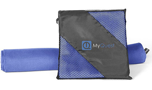 1. MyQuest Microfiber Towel With Case