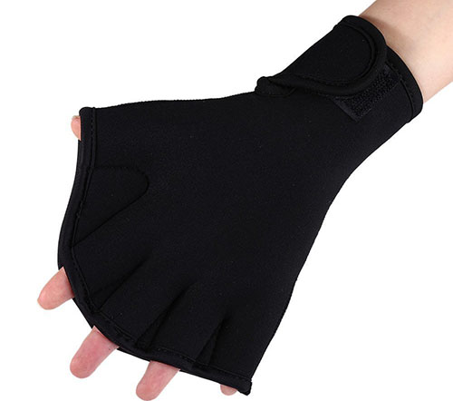 6. Stylrtop One Pair Diving Webbed Gloves Frog Hand Flipper