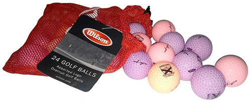 6. Wilson Assorted Overrun LOGO Golf Balls - 24 count - First Quality