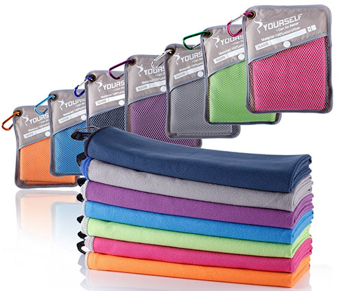 5. SYOURSELF Microfiber Sports & Travel Towel