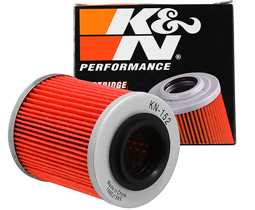8. K&N KN-152 Powersports High-Performance Oil Filter