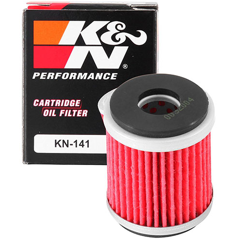 9. K&N KN-141 Motorcycle/Powersports High-Performance Oil Filter