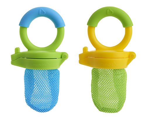 2. Fresh food feeder, two pack, blue/ green