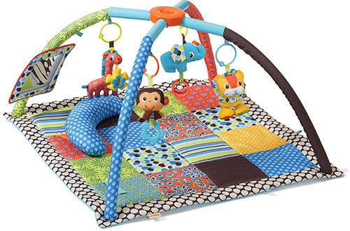 2. Infantino twist and fold activity gym, vintage boy
