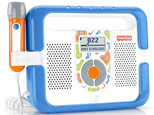 1. fisher-price kid tough music player with microphone, blue