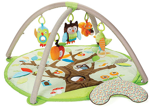 4. Skip Hop Baby infant and toddler treetop friends' activity gym and play mat