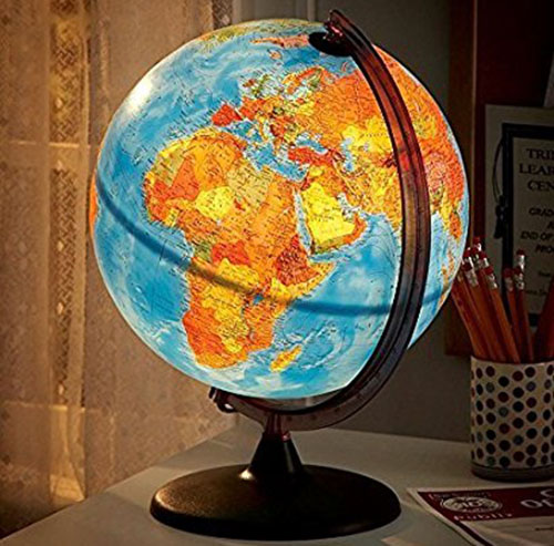5. Electric Illuminated Orion Relief World Globe