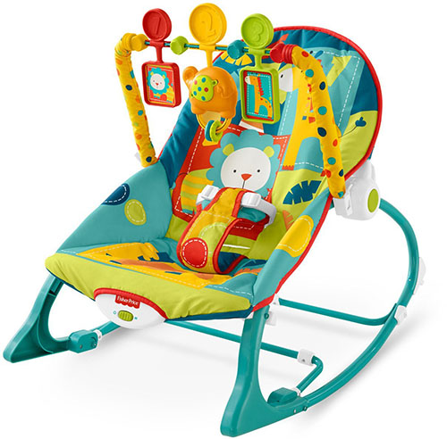 6. fisher-price infant to toddler rocker, dark safari