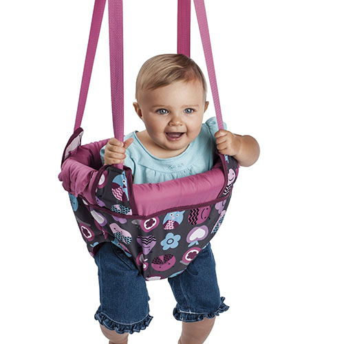 2. Evenflo exersaucer door jumper, pink bumbly