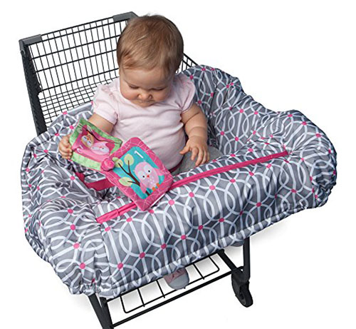 9. Boppy shopping cart and high chair cover, park gate pink