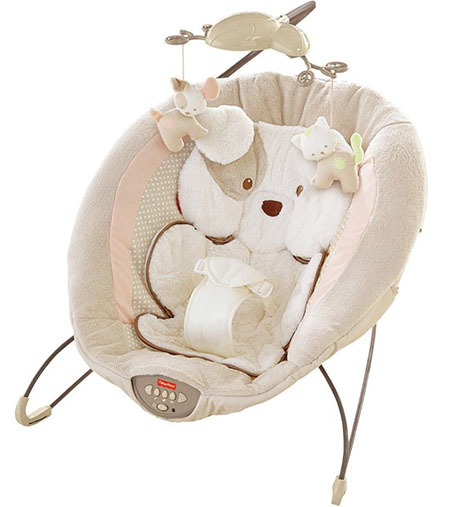 4. fisher-price my little snugapuppy deluxe bouncer