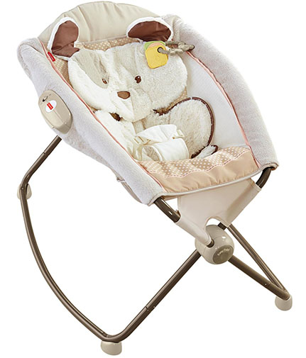 8. fisher-price my little snug a puppy deluxe rock 'n play sleeper