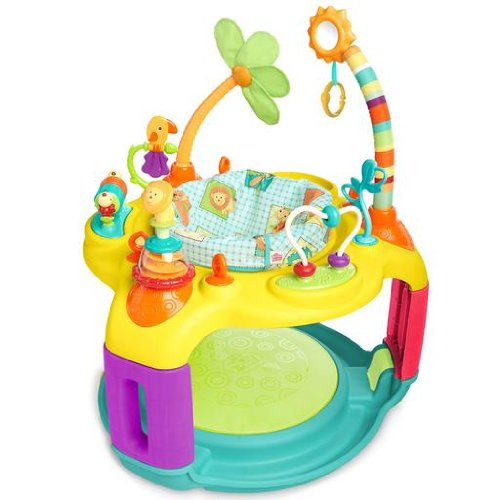 6. Bright starts springing safari bounce-a-bout activity center