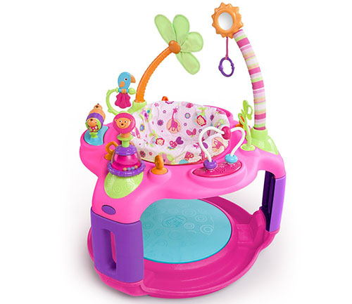 4. Bright starts sweet safari bounce-a-round activity center