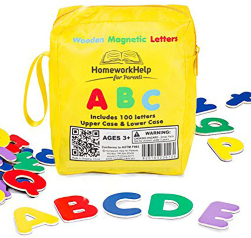 6. Classic Collection Of 100 Wooden, Magnetic Letters